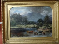 summer river landscape in the highlands by david george steell