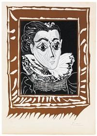 la dame à la collerette (portrait de jacqueline à la fraise) by pablo picasso