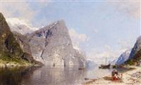 norwegischer fjord by georg anton rasmussen
