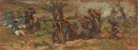 manovre d'artiglieria by giovanni fattori