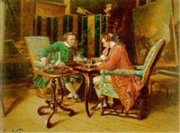 beim schachspiel by edme antony paul noël