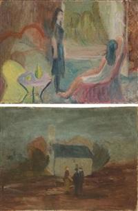 zwei mädchen (+ kleines haus; 2 works) by alexander camaro