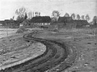 mecklenburgische dorflandschaft im vorfrühling by hans klohss