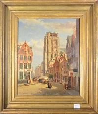 rue animée by jean baptiste van moer