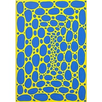 17 spirals in blue and yellow by james siena