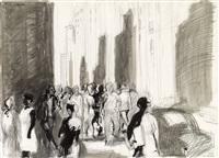 madison avenue, new york by georg eisler