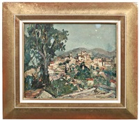 blick auf cagnes-sur-mer by maurice hennel