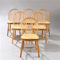 dining chairs (set of 6) by frits henningsen