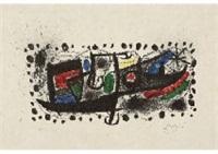 lithographie edite a l'occasion de la parution de joan miro und katalonien by joan miró