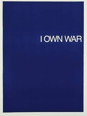 i own war, mir gehört krieg (set of 4) by william anastasi