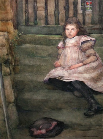 a short rest on the steps by constance walton