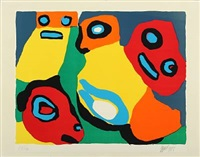 composition with figures by karel appel