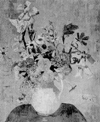 blumenstilleben in einer vase by ernst vogel