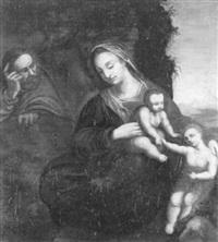 die heilige familie mit dem johannesknaben by francisco pacheco