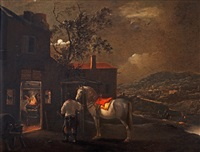 horse by the smithy by pieter wouwerman