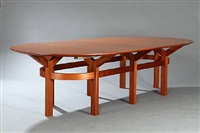 conference table (set of 7) by rud thygesen