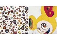 jellyfish eyes-white 5 by takashi murakami