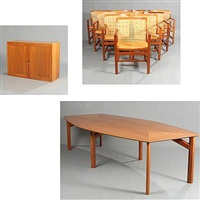 king series conference room suite (model lh 7512) (set of 12) by rud thygesen and johnny sorensen