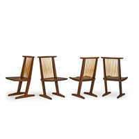 conoid dining chairs (set of 4) by mira nakashima-yarnall