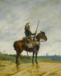 french cavalier by alphonse marie de neuville