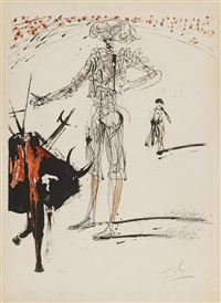 bullfight no. 4 1966 by salvador dalí