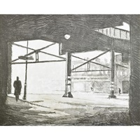 under the el (3 works) by duncan hannah