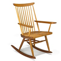 new rocking chair with arms by mira nakashima-yarnall