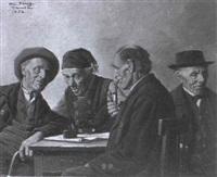 gesellige männerrunde by hein konig