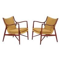 nv 45 chairs (pair) by finn juhl