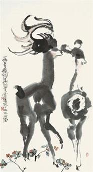 双鹿 by cheng shifa