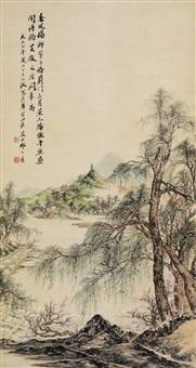 蓟门春景 (landscape) by qi dakui