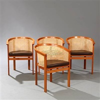 king's furniture chairs (model 7703) (set of 4) by rud thygesen and johnny sorensen