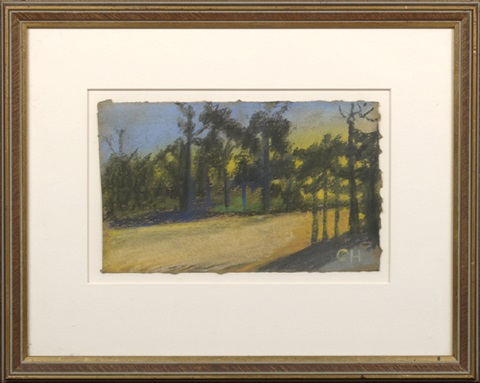 rural path lined with cypress trees by charles woodward hutson