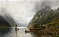 die überfahrt am fjord by anders monsen askevold
