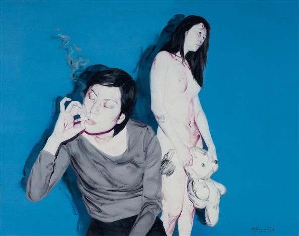两个女孩no.1 (two girls no.1) by he sen