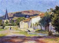en fransk landsby by georges pierre louis serrier