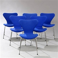 seven chair (model 3107) (set of 6) by arne jacobsen