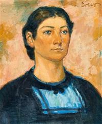 porträt einer jungen frau in tiroler tracht by fritz erler