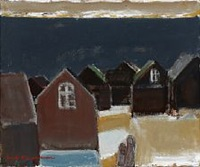 composition with houses by jack kampmann