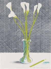 lillies (stillife) by david hockney