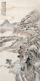 秋林晚亭 by gu yun