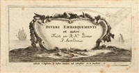 divers embarquements et autre (12 works) by reinier nooms