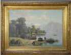 paysage lac et montagnes by theodor (wilhelm t.) nocken