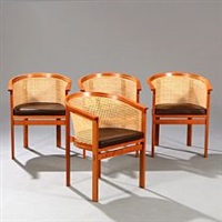 king's furniture bergeres (model 7703) (set of 4) by rud thygesen and johnny sorensen