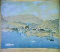kystparti fra julianehaab i gronland by jacob andreas augustinus aroe