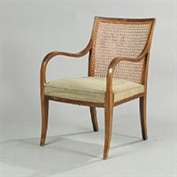 armchair with sweeping frame by frits henningsen