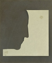 self-portrait in profile by marcel duchamp