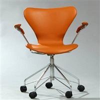 seven chair swivel chair (model 3217) by arne jacobsen