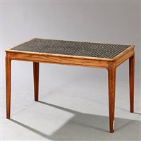 rectangular coffee table by frits henningsen