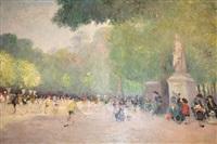 park scene by e. felvre